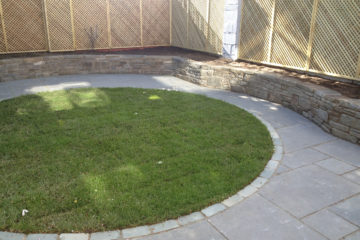 Grey Limestone Patio  - 2014