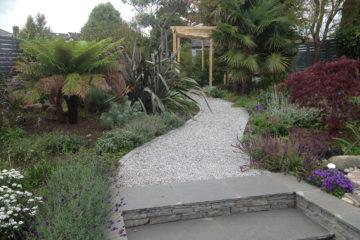 Grey Limestone Garden Refurbisment - 2015