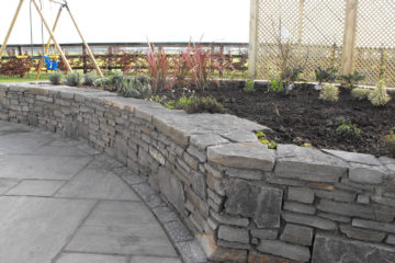 Paving and Raised planting bed near Athy.