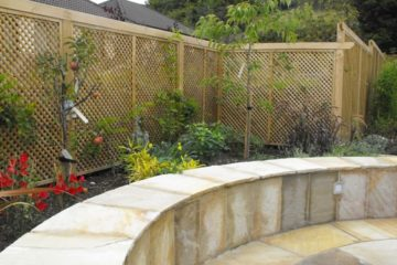 Family garden in Leixlip with sandstone