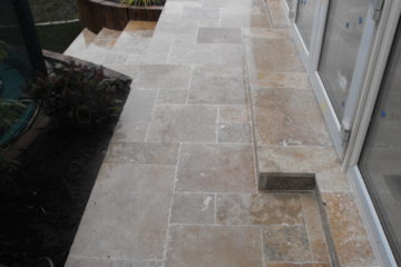 Travertine paving Rathfarnham