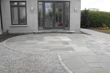 Grey sandstone patio in Sutton.