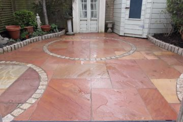 Old patio restored and extended in Clonskeagh