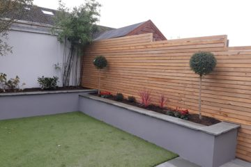 Low maintenance garden after building work in Blessington